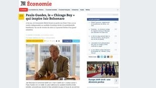 """Le Monde faz perfil do """"guru"""" econômico de Jair Bolsonaro (PSL)"""