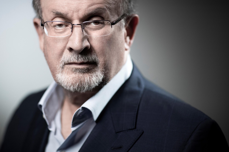 Salman Rushdie à Paris, le 10 septembre 2018, à l'occasion du lancement de la version française de son 13ème roman, La Maison Golden (Actes Sud).