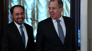 Ngoại trưởng Nga Sergueï Lavrov và đồng nhiệm Afghanistan Salahuddin Rabbani. Ảnh chụp tại Matxcơva, ngày 7/02/2017.