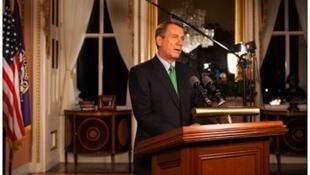 Spika wa bunge la Seneti la Marekani John Boehner