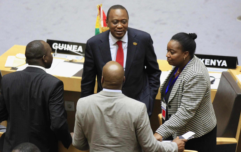 Le président du Kenya, Uhuru Kenyatta lors du sommet de l'Union africaine à Addis-Abeba, le 12 octobre 2013.