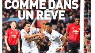 Capa do jornal L'Equipe nesta quarta-feira (13).