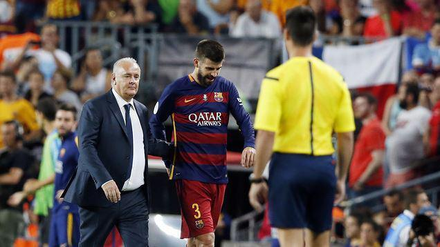 Barcelona defender Gerard Pique banned for 4 games after his Super Cup red card