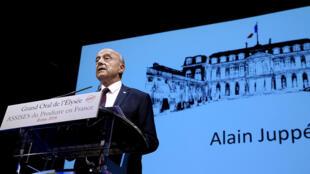 Le candidat à la primaire à droite, Alain Juppé, lors des Assises du « produire en France », le 9 septembre 2016 à Reims.