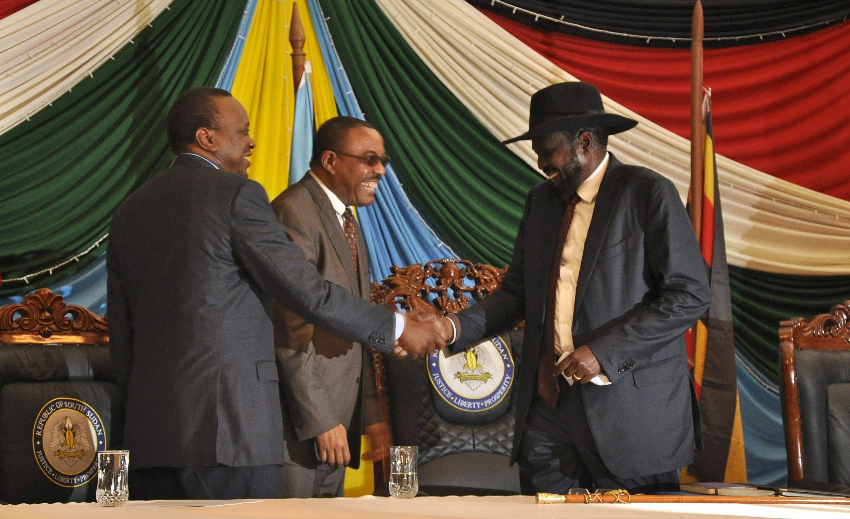 Um acordo precário foi firmado ontem em Juba entre Riek Machar e o presidente Salva Kiir