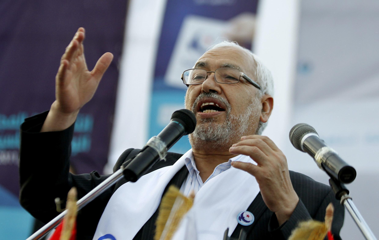 លោក Rached Ghannouchi ប្រធានគណបក្សអ៊ីស្លាមនិយមទុយនីស៊ី Ennahda