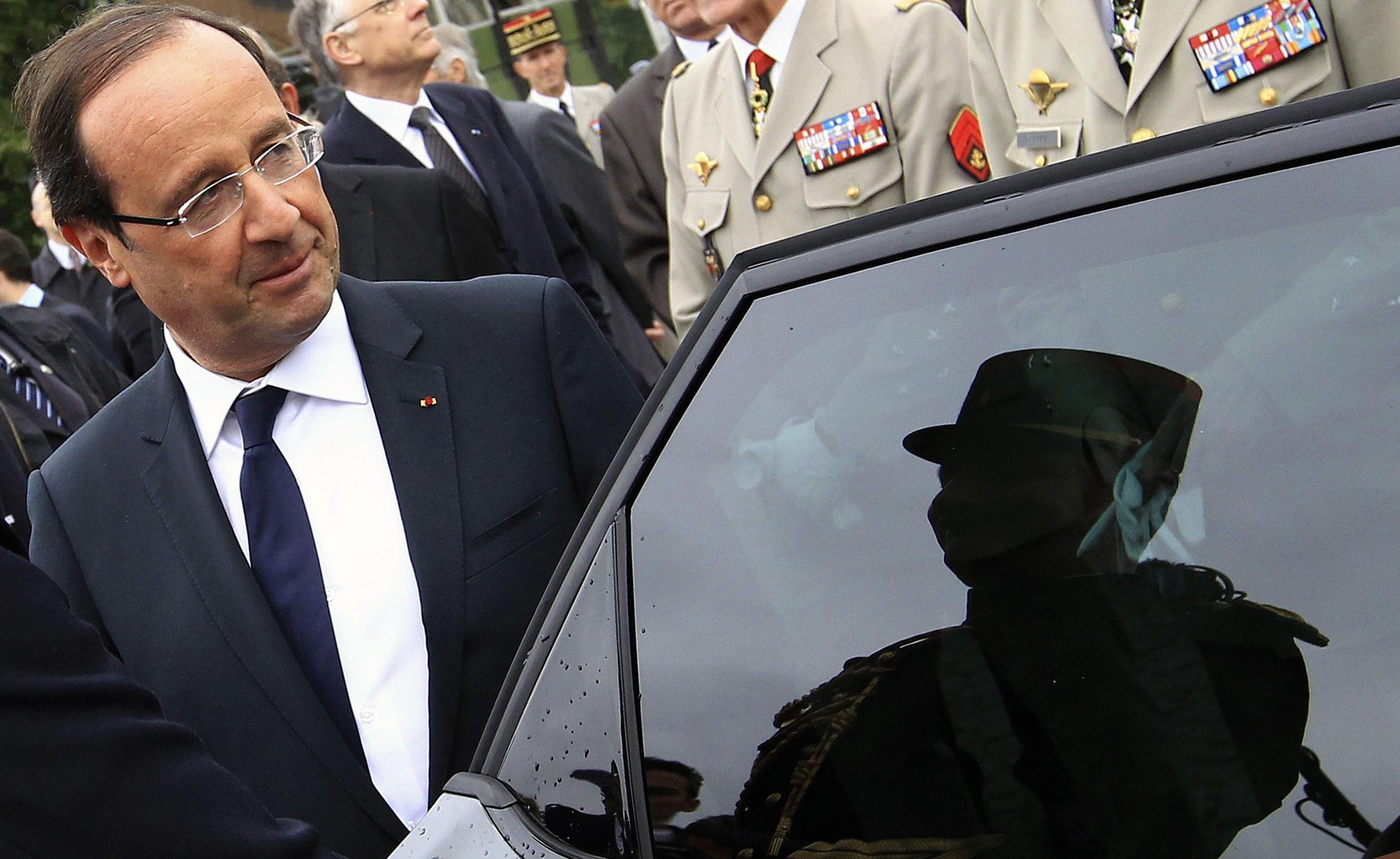 Former socialist president François Hollande identified with De Gaulle's strong defence of republican values