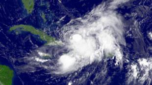 Kimbunga cha Kitropiki Hanna kilichopiga kunsini mashariki mwa Florida mnamo Septemba 2, 2008.