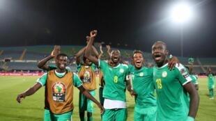 Les Sénégalais lors de la CAN 2019.