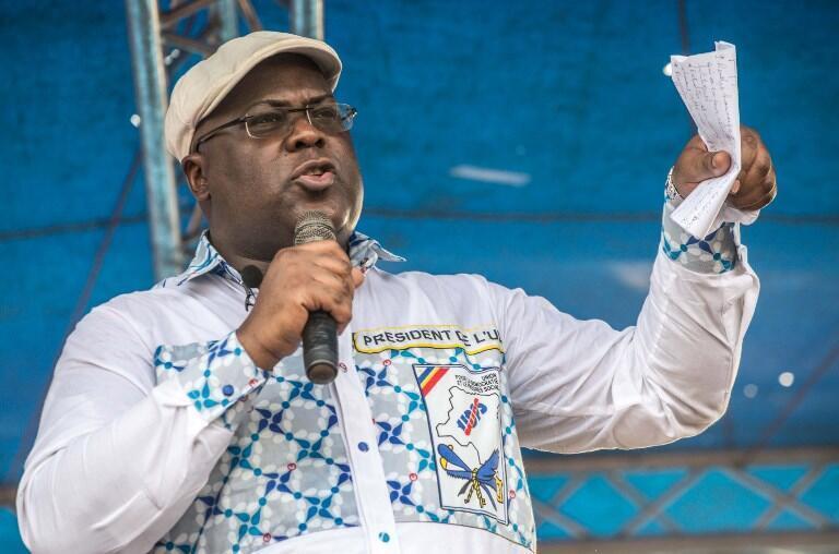 Félix Tshisekedi, Kiongozi wa chama cha Upinzani cha UDPS jijini Kinshasa, Aprili 24 2018.