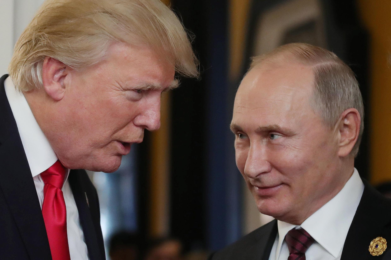 Дональд Трамп и Владимир Путин встречаются в Хельсинки 16 июля