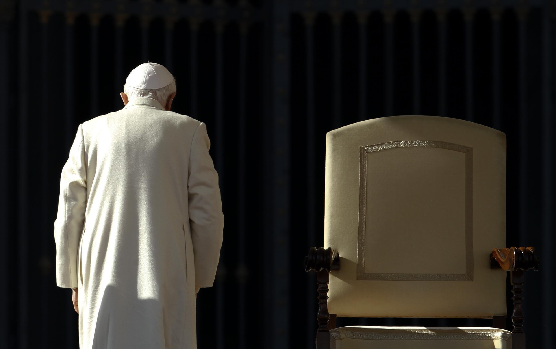 Bento XVI, que renunciou ao pontificado em 28 de fevereiro de 2013