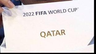 Anúncio oficial da vitória do Catar como sede do Mundial de 2022, em 2010.