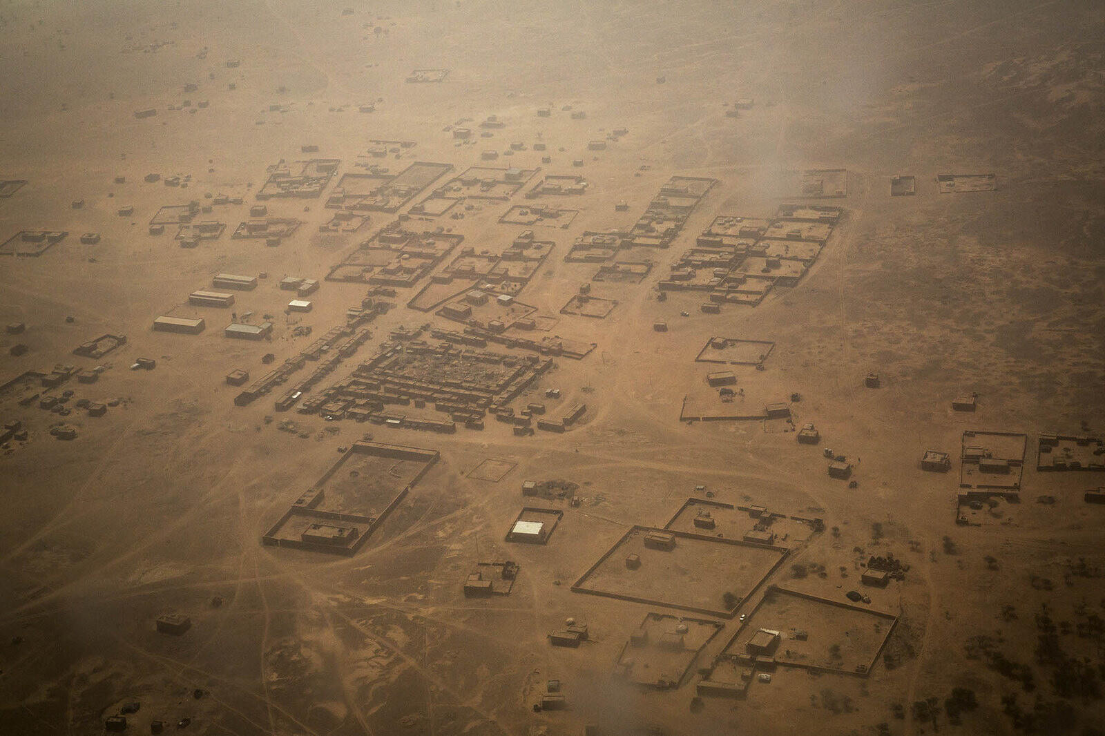 Photo aérienne de Ménaka au Mali.