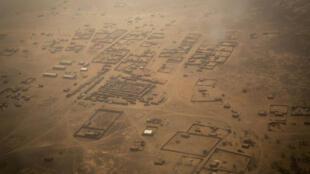 Photo aérienne de Ménaka au Mali.