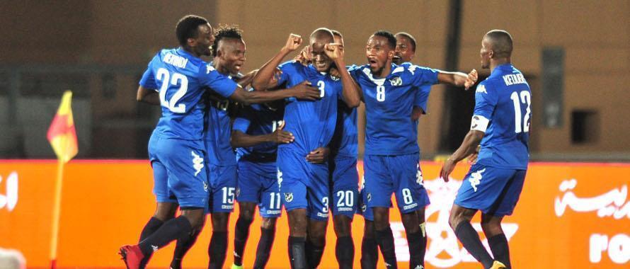Timu ya taifa ya Namibia baada ya kuishinda Ivory Coast bao 1-0 mchuano wa kwanza wa CHAN Januari 14 2018