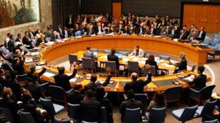 Le Conseil de sécurité de l'ONU à New York.
