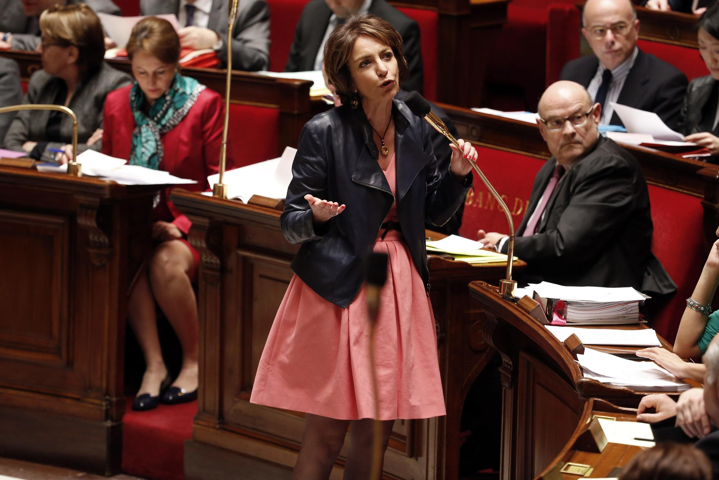 French Minister for Social Affairs, Health and Women's Rights Marisol Touraine speaks during the questions to the government session at the National Assembly in Paris March 17, 2015.