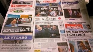 Diários franceses 15/10/2014
