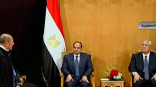 Abdel Fattah al-Sissi toma posse no domingo 8 de junho de 2014  como novo presidente do Egito.