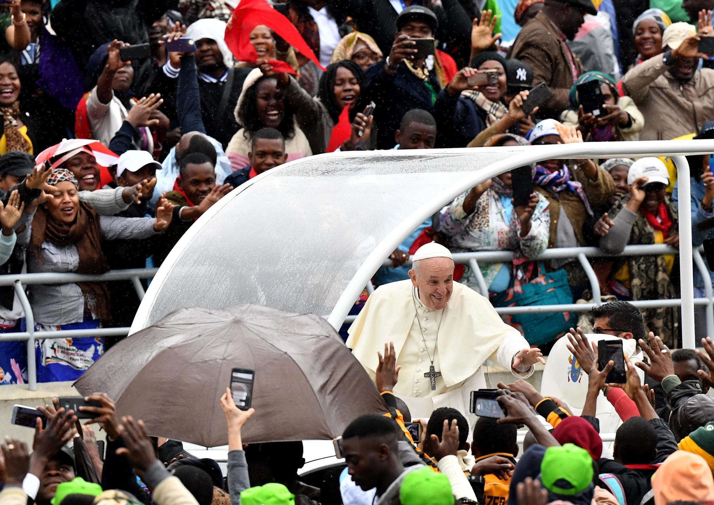Papa Francisco no Estádio do Zimpeto, em Maputo. 6 de Setembro de 2019.
