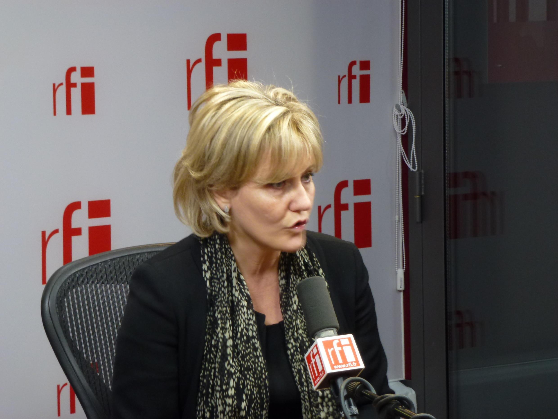Nadine Morano in RFI's studios