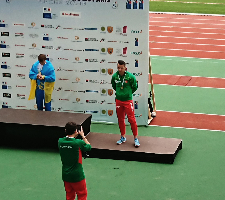 Lenine Cunha, atleta luso, conquistou cinco medalhas.