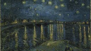 Винсент Ван Гог. Звездная ночь над Роной. 1888. Музей Орсе