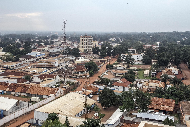 Vue de la capitale Bangui, en RCA, après les violences, le 29 septembre 2015.