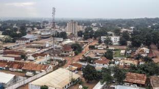 Vue de Bangui en 2015.