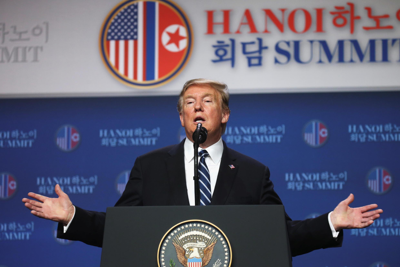 Tổng thống Mỹ họp báo, Hà Nội, 28/02/2019.