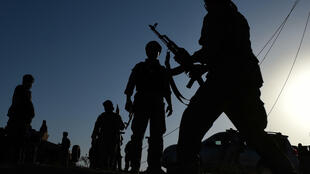 Afghan military personnel in Kunduz during fighting with Taliban militants in 2015. The Taliban are making huge advances across the country as they capitalise on the final withdrawal of foreign troops