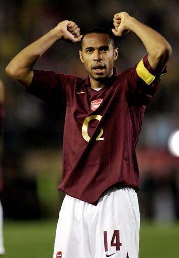 Thierry Henry sous les couleurs d'Arsenal, en 2006.