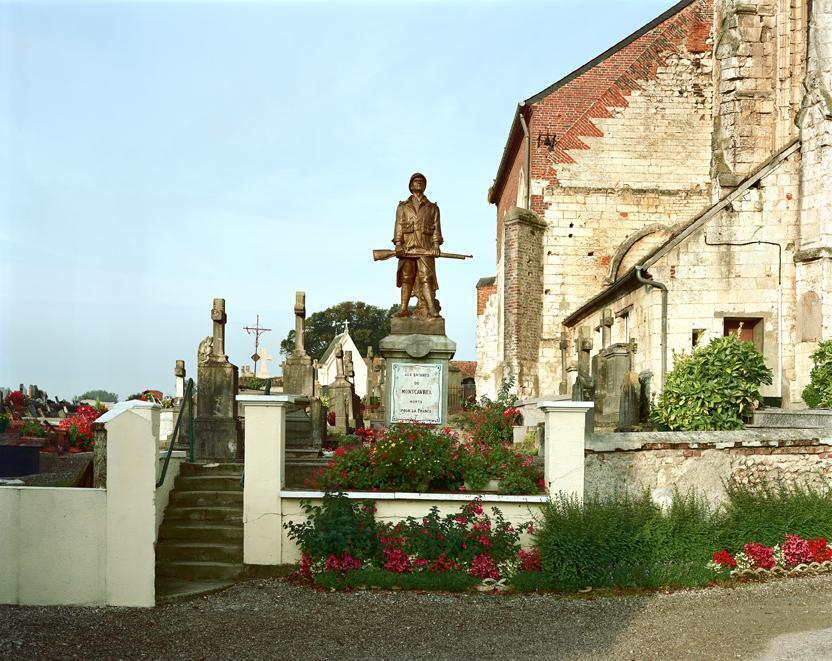 Monumento a los caídos en Montcavrel, en la región Nord-Pas de Calais.
