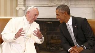 方济各与奥巴马在白宫举行会谈