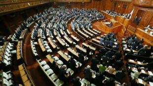 Cuộc biểu quyết hiệp định TPP tại Hạ viện Nhật Bản, Tokyo ngày 10/11/2016.