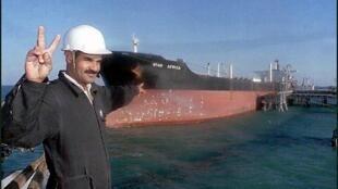 Tanker pétrolier.
