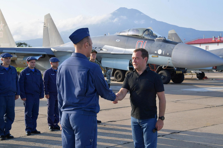 Дмитрий Медведев на острове Итуруп, 2 августа 2019