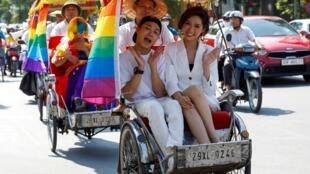 Parade de la Gay Pride à Hanoï, au Vietnam, le 22 septembre 2019.