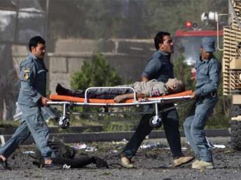 Daya daga cikin wadanda suka sami rauni an kwashe shi zuwa asibiti na Kabul
