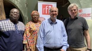 (De gauche à droite): Florent Couao-Zotti, Monique Ilboudo et Jean-Loup Amselle, étaient les invités de la 2ème émission de VMDN dédiée à la Rentrée Littéraire du Mali.
