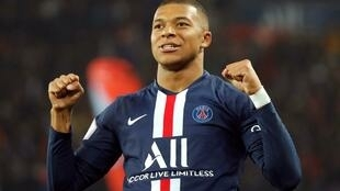 Kylian Mbappé scored PSG's third goal in the 4-1 victory at Le Mans.
