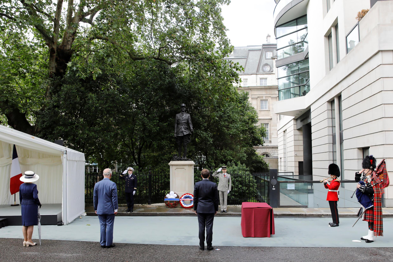 Памятник Шарлю де Голлю в Лондоне 18 июня 2020