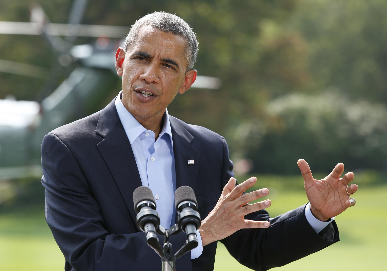 Барак Обама говорит о ситуации в Ираке, Вашингтон, 9 августа 2014 г.