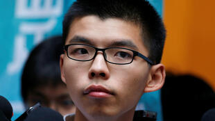 香港青年民主活動人士黃之鋒。攝於2017年10月24日,香港