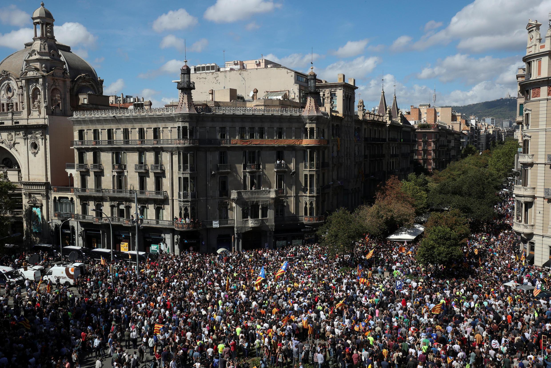 Catalunha na rua pela independência
