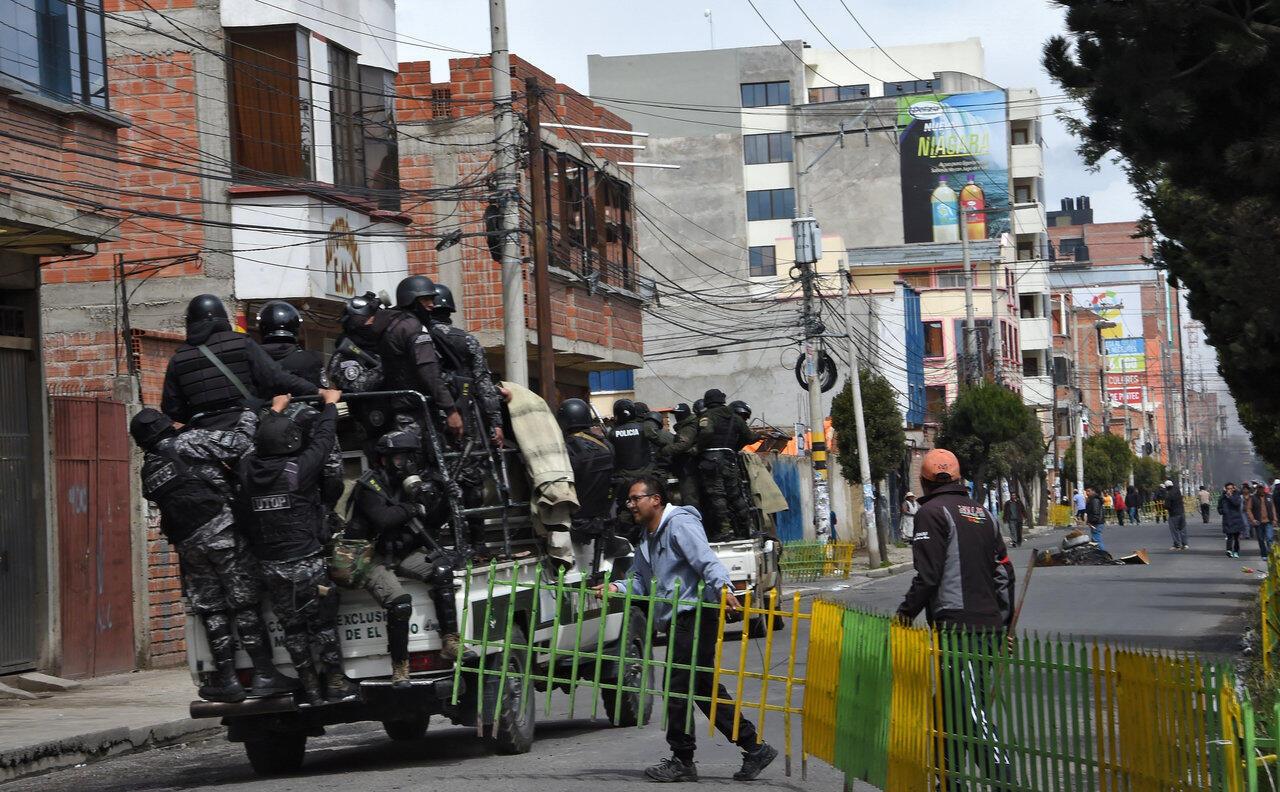 Thành phố El Alto, Bolivia, trong tình trạng căng thẳng. Ảnh chụp ngày 11/11/2019