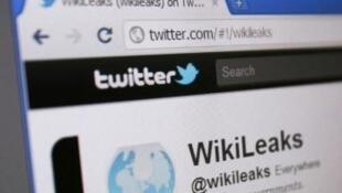 La page Twitter de WikiLeaks.