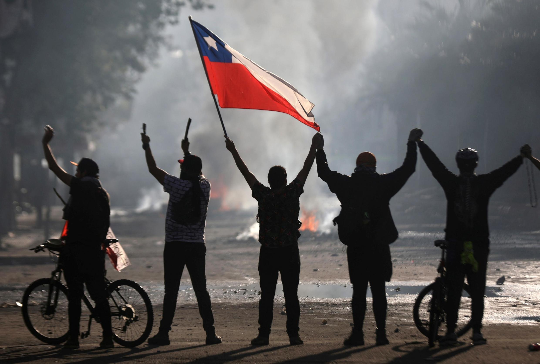 Manifestation à Santiago du Chili.