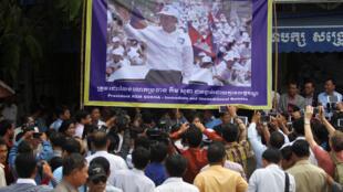 Lãnh đạo đối lập Cam Bốt, Kem Sokha. Ảnh ngày 05/09/2017.